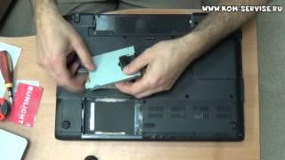 Інструкція по заміні пам'яті, жорсткого диска і DVD RW ноутбука Samsung R610