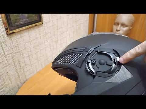Как снять и заменить визор в мотоциклетном шлеме FXW Helmet HF-118!