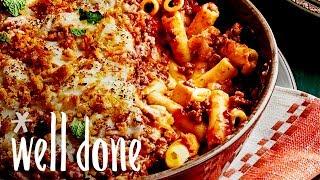 How To Make Classic Pastitsio Greek Baked Ziti Pasta Casserole | Recipe | Well Done