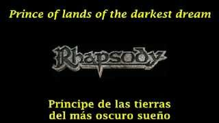 Rhapsody - Dargor, Shadowlord Of The Dark Mountain (Letra & Sub. Esp.)