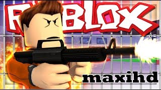 maxi playing roblox escape from prison (for children)