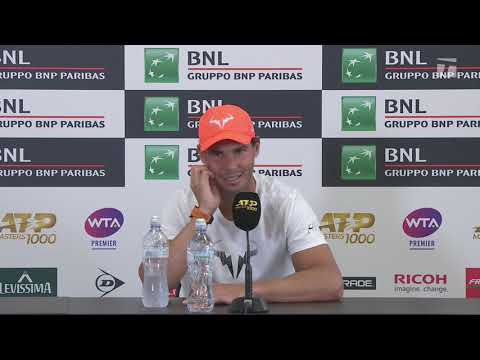 Rafael Nadal Press confeerence / SF Rome Masters 2019