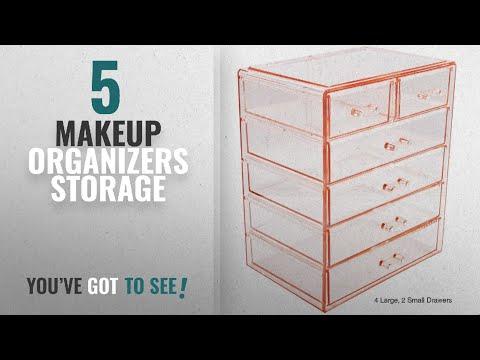top-10-makeup-organizers-storage-[2018]:-sorbus-cosmetics-makeup-and-jewelry-big-pink-storage-case