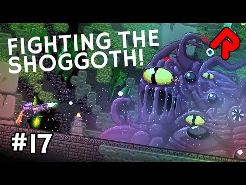 Fighting the Shoggoth! (Frozen Wastes part 2) | Let's Play Starbound Frackin' Universe mod ep 17
