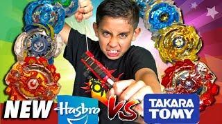 New Beyblade Burst Battle Hasbro vs Takara Tomy tournament  Best Beyblades challenge