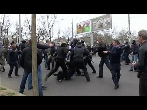 Referendum Rally Sparks Clashes in Ukraine