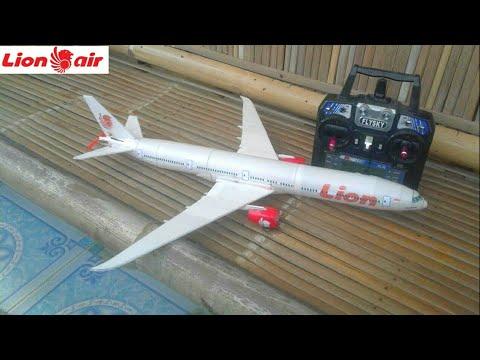 homemade RC B777 LI0N indonesia membuat rc plane KEREN