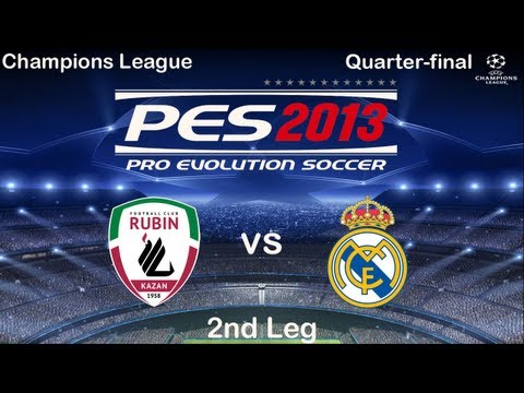 PES 2013   Rubin Kazan - Real Madrid   Champions League Quarter-final 2nd Leg