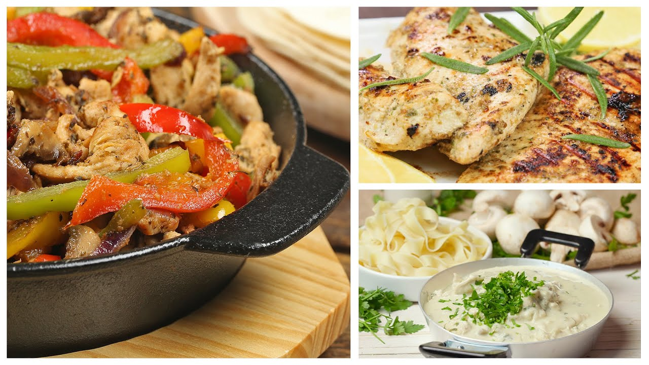 للمحتارين في الغذاء | دجاج بالمقلاة لكل يوم | وصفات لذييييذة وسهلة