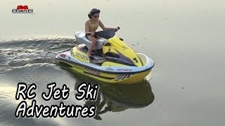 RC Personal Water Craft NQD Jet ski riding at Sengkang Riverside Park