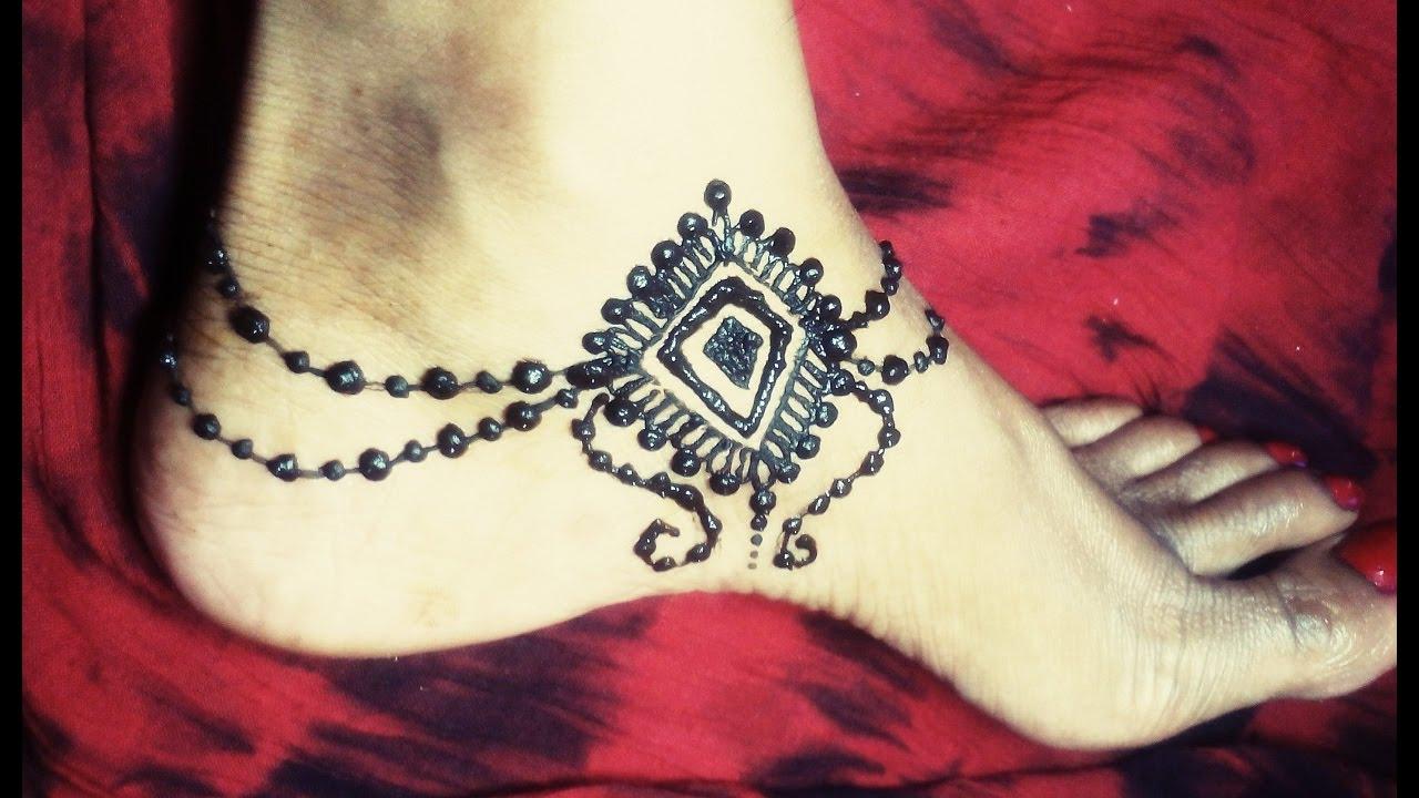 Mehndi Ankle Instagram : Beautiful anklet mehndi design payal pazeb henna for