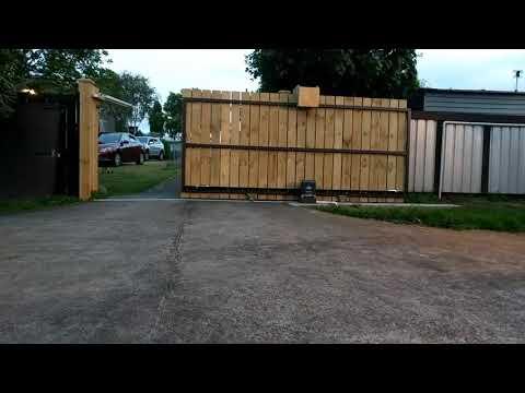 DIY sliding gate complete!