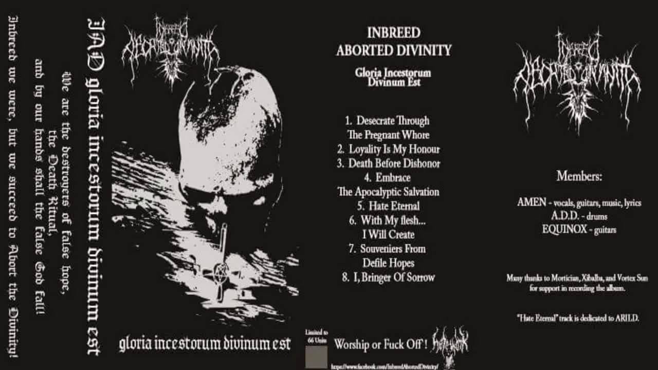 inbreed aborted divinity gloria incestorum divinum est full album
