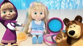 MASHA E ORSO, in italiano, giochi per bambini, Masha Parrucchiera si tinge i capelli !