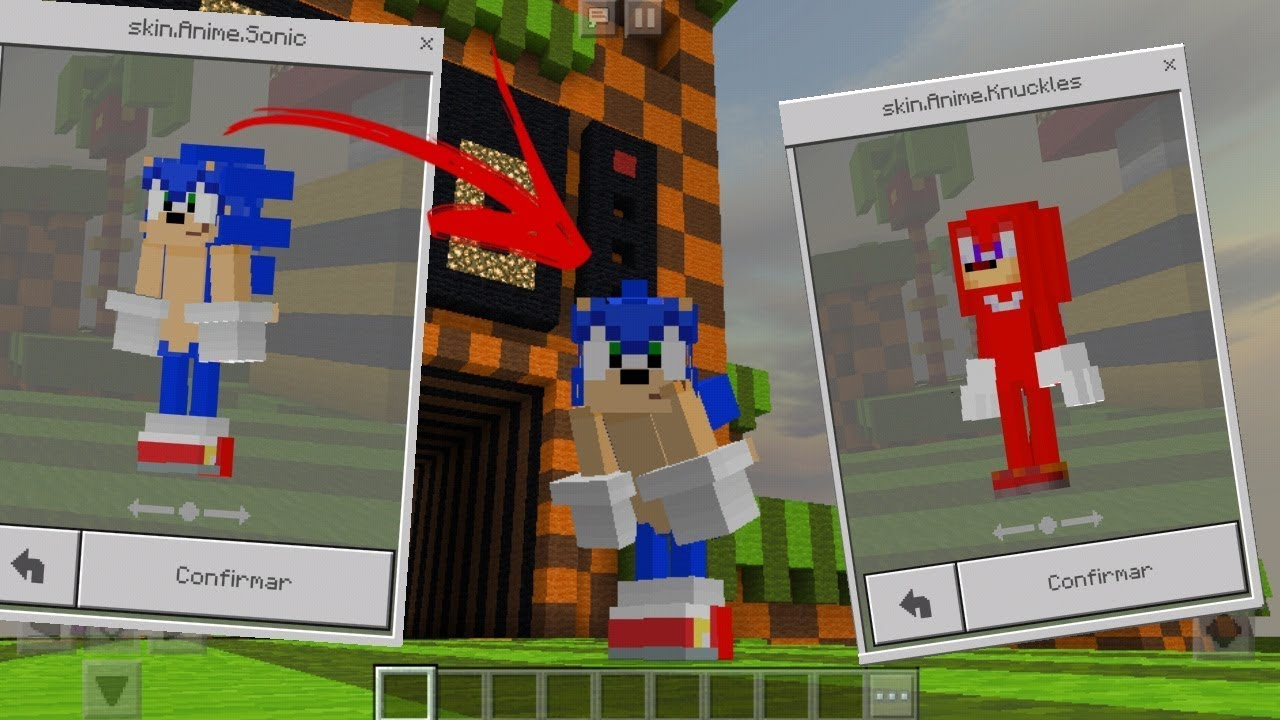 Minecraft PE SKINS D SONIC REALISTC Minecraft Pocket Edition - Skins para o minecraft sonic