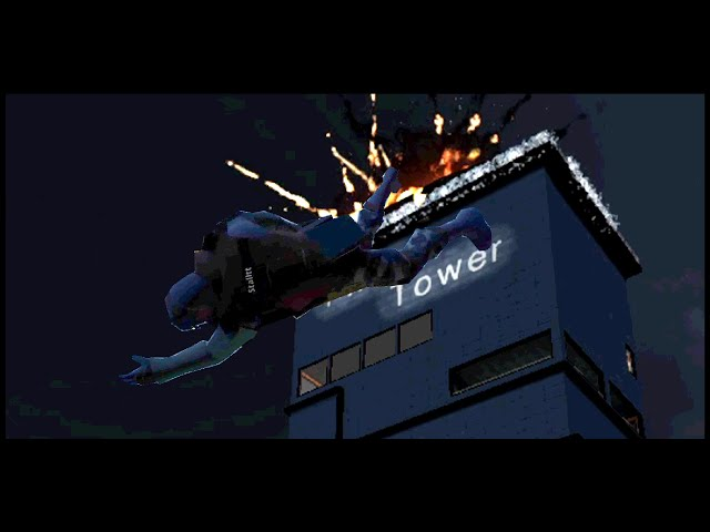 Jumping Off An Exploding Building Like An Action Hero