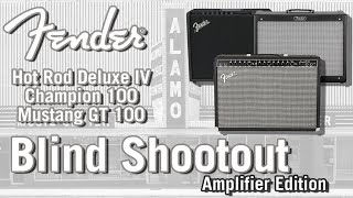 Fender Blind Amp Shootout Modeling vs Tube vs Solid GT100 Deluxe IV Champ 100