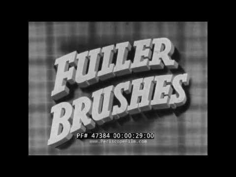 FULLER BRUSHES FACTORY PROMOTIONAL FILM  DOOR TO DOOR SALESMAN 47384