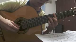 音源を元に採譜して演奏しました。 青葉さんの独特な間合や溜めが魅力的なのですが、譜面におこすのが難しく真似も出来なかったので、なるべ...