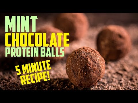 Healthy Chocolate Mint Protein Balls