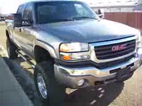 2006 gmc sierra 2500hd slt with lifted suspension duramax diesel stock 0091 2 youtube. Black Bedroom Furniture Sets. Home Design Ideas