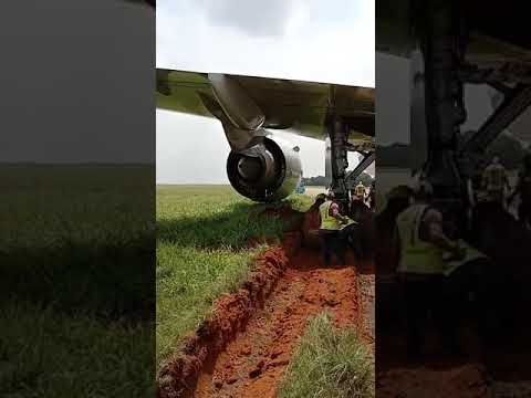 Ethiopia aircraft skids off  runway: Watch airport official on rescue operation