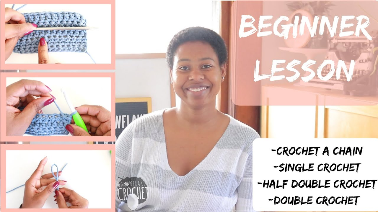 WATCH THIS FIRST IF YOU JUST STARTED CROCHETING   BEGINNER SERIES EPISODE 2   SNOWFLAKE CROCHET