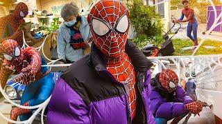 Je me déguise en Spiderman pour aider les gens (ils me regardent tous bizarrement mdr)
