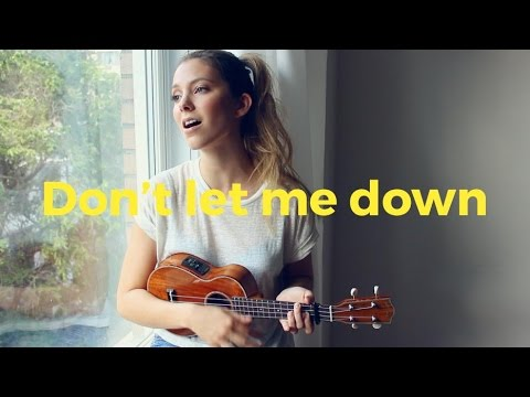 Dont Let Me Down - The Chainsmokers ukulele cover Romy Wave