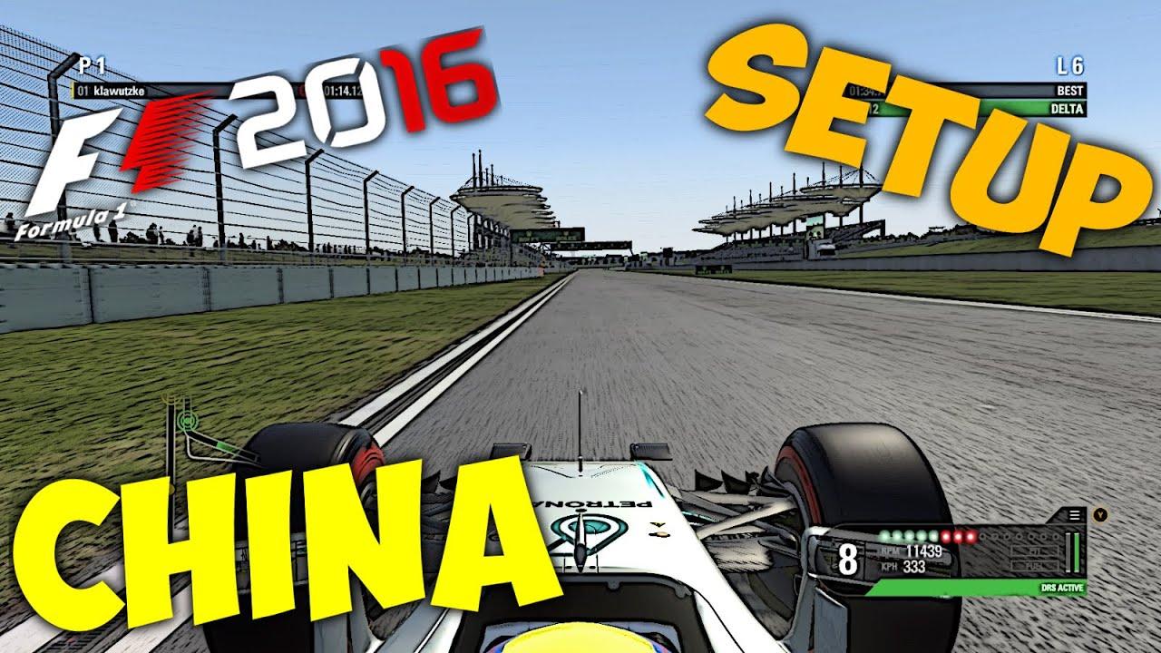 F1 2016 China Setup Hotlap 134431 Shanghai Pcgamepad Youtube