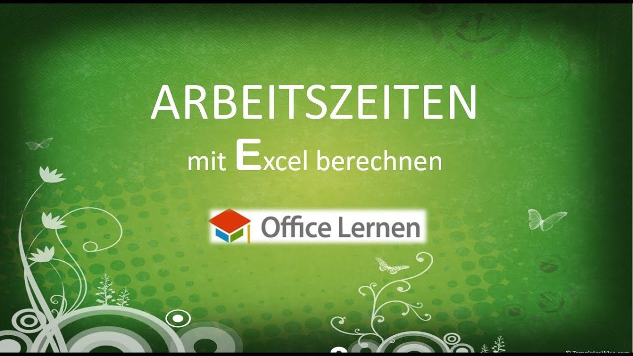 arbeitszeiten mit excel berechnen youtube. Black Bedroom Furniture Sets. Home Design Ideas