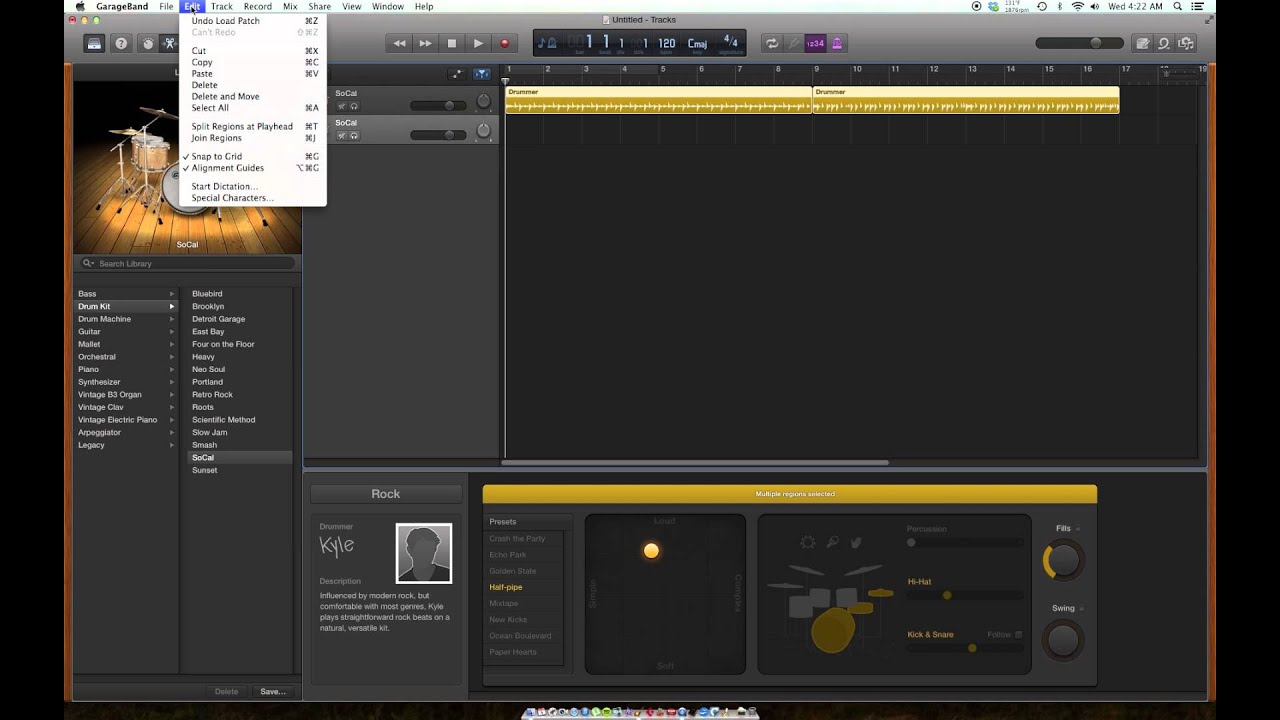 how to connect a midi to garageband