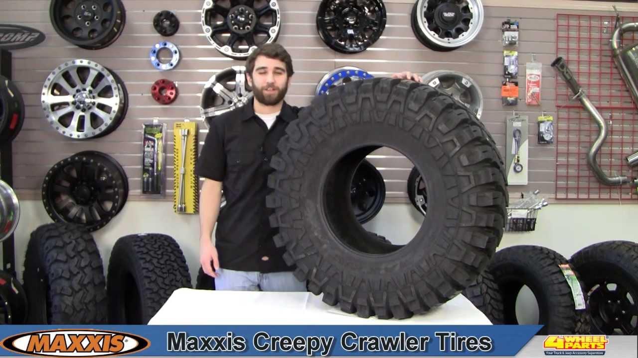 14 Inch Tires >> Maxxis Creepy Crawler Tires - YouTube