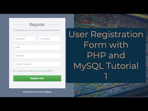 User Registration Form With PHP And MySQL Tutorial 1 - Creating A Registration Form