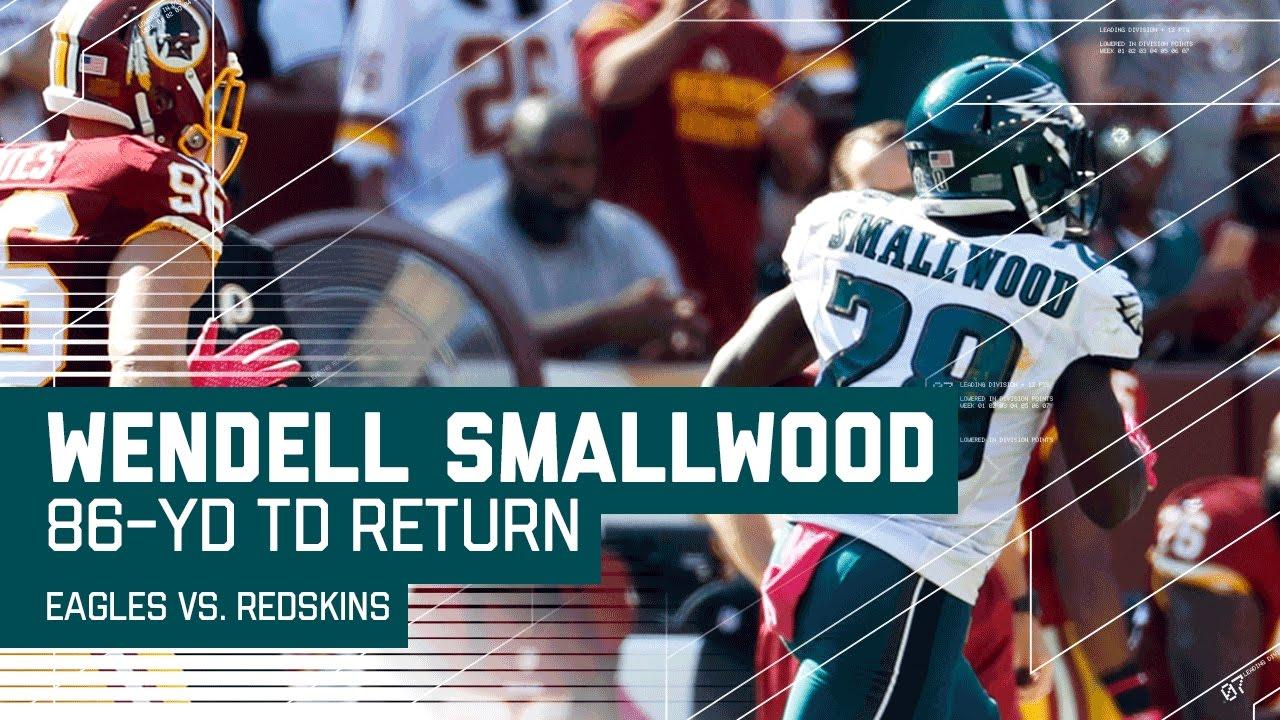 wendell smallwood u0027s 86 yard kickoff return td eagles vs