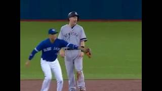 WATCH: Todd Frazier falls victim to hidden ball trick from Goins - Yankees v Blue Jays