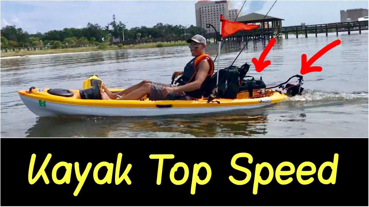 ✅Motorized Kayak Top Speed Test | 🚩30lb Thrust Motor on 10' Setup with A  Speed Controller