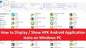show apk icons in windows