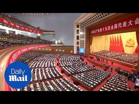 President XI Jinping opens the Communist Party Congress - Daily Mail
