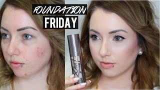 Foundation Friday! NEW URBAN DECAY ALL NIGHTER FOUNDATION | Acne & Pale Skin First Impression Review