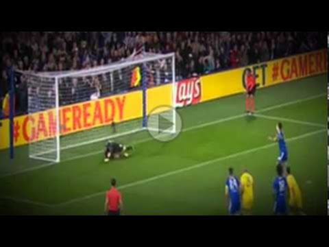 Eden Hazard missed penalty - Chelsea vs Maccabi Tel Aviv UEFA Champions League 2015-2016
