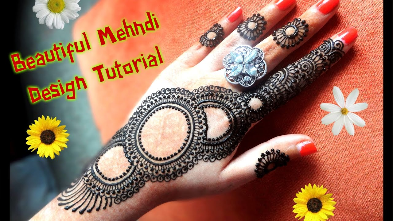 Mehndi design 2017 eid - How To Apply Easy Simple Henna Mehndi Designs For Hands For Eid Weddings Diwali 2017 Tutorial