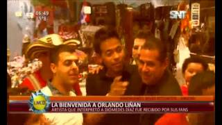 "Fanáticas esperaron la llegada de ""Diómedes"""