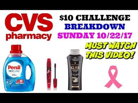 CVS $10 CHALLENGE BREAKDOWN 10/22/17 =...