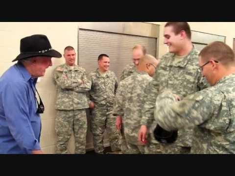 Mr. James Best visits troops