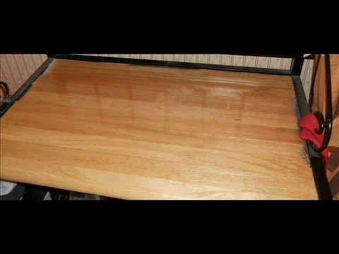 Diy How To Use Sticky Floor Tiles To Update Old Countertop Youtube