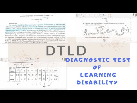 Assessment Tool DTLD | Learning Disability