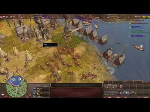 [AOE3] Blackstar (Spain) vs Boneng (Russia) + crazy water fights + duo commentary