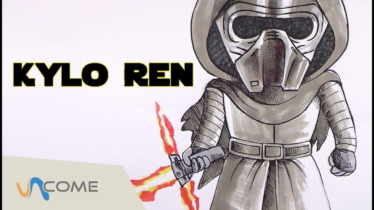 Come Disegnare Kylo Ren Star Wars Vii Youtube