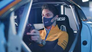 Lando Norris  takes on the Simulator at the iconic ROFGO collection.